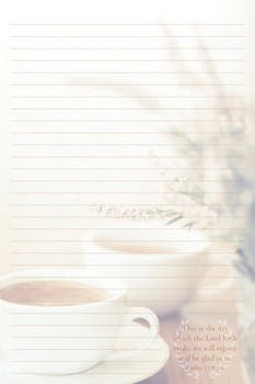Morning Tea - Stationery Pad - by Heartwarming Thoughts