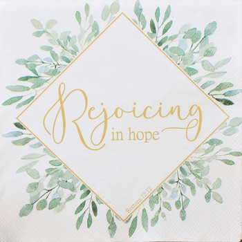 "Rejoicing Leaves - Luncheon Napkins with KJV Bible Verse - 6.5"" x 6.5"" (20/pkg)"