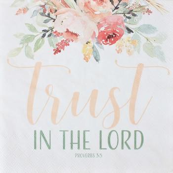 "Trust Blush - Luncheon Napkins with KJV Bible Verse - 6.5"" x 6.5"" (20/pkg)"