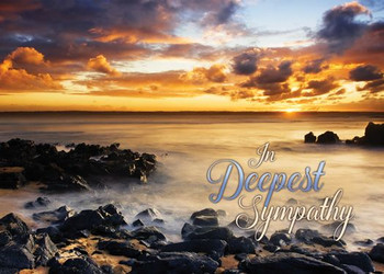 KJV Boxed Cards - Sympathy, Sunset Shores