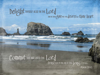 Delight In the Lord - Psalm 37 KJV - Wall Canvas by Prints of Peace