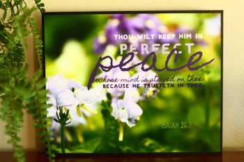 Perfect Peace - Isaiah 26:3 KJV - Wall Canvas by Prints of Peace