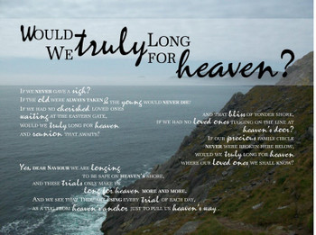 Long For Heaven - Wall Canvas by Prints of Peace