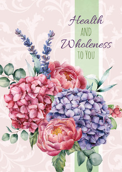 KJV Boxed Cards - Get Well, Painted Petals