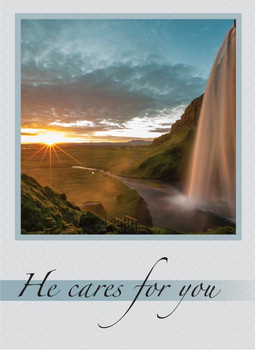 KJV Boxed Cards - Get Well, Waterfalls by Heartwarming Thought
