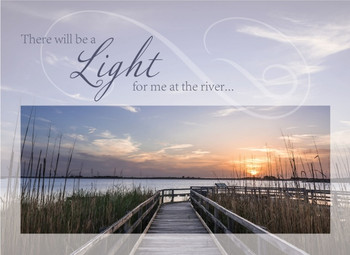 KJV Boxed Cards - Sympathy, Light at the River by Heartwarming Thoughts