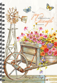 Garden Wheelbarrow- Journal - by Heartwarming Thoughts