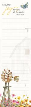 Garden Wheelbarrow - Magnetic List Pad - by Heartwarming Thoughts