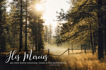 His Mercies - Wall Plaque by Heartwood Hollow