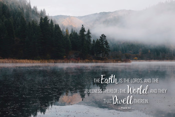 The Earth is the Lord's- Wall Plaque by Heartwood Hollow