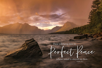 Perfect Peace - Wall Plaque by Heartwood Hollow