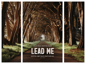 Lead Me Triptych - Wall Plaque Set by Heartwood Hollow