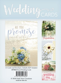 KJV Boxed Cards - Floral - Wedding Cards