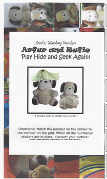 Sticker Puzzles - Arfur and Rufie Play Hide and Seek Again! Level 2 (matching numbers)