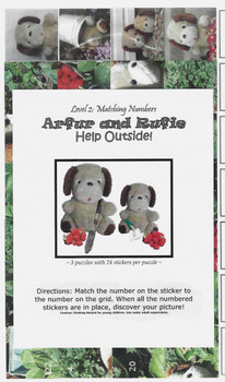 Sticker Puzzles - Arfur and Rufie Help Outside! Level 2 (matching numbers)