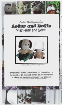 Sticker Puzzles - Arfur and Rufie Play Hide and Seek! Level 2 (matching numbers)