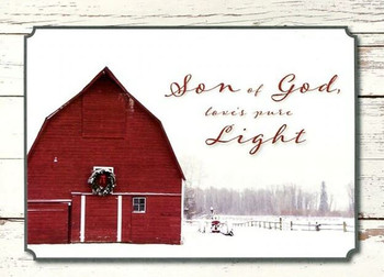 KJV Boxed Cards - Christmas Country Barns by Heartwarming Thought