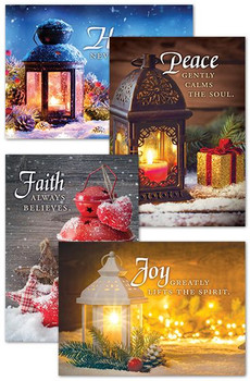 KJV Boxed Cards - Christmas, Christmas Lanterns