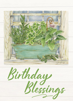 KJV Boxed Cards - Birthday, Herb Garden by Heartwarming Thought
