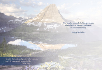 KJV Boxed Cards - Birthday, My Father's World by Heartwarming Thought