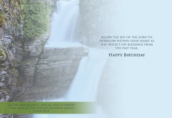 KJV Boxed Cards - Birthday, Waterfalls by Heartwarming Thought