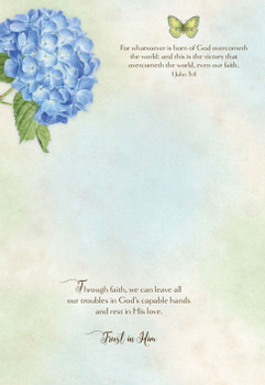 KJV Boxed Cards - Thinking of You, Butterfly Blooms by Heartwarming Thought