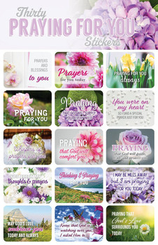 Praying for You Stickers - 2 sheets
