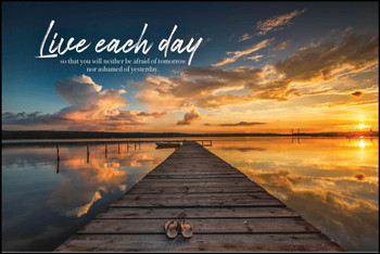 Live Each Day - Wall Plaque by Heartwood Hollow