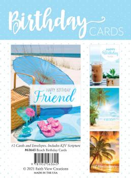KJV Boxed Cards -  Summer Beach Birthday Cards
