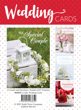 KJV Boxed Cards -  Candle Wedding Cards