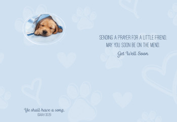 KJV Boxed Cards - Children's Get Well, Puppy Love by Heartwarming Thoughts