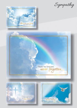 KJV Boxed Cards - Sympathy, Beyond the Clouds by Heartwarming Thoughts