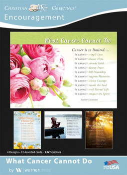 KJV Boxed Cards - Encouragement, What Cancer Cannot Do