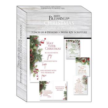 KJV Boxed Cards - Garland Christmas by Shared Blessings