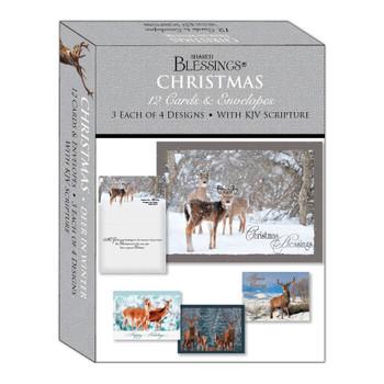 KJV Boxed Cards - Deer in Winter by Shared Blessings