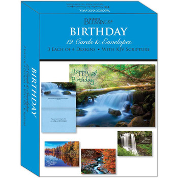 KJV Boxed Cards - Birthday Waterways by Shared Blessings