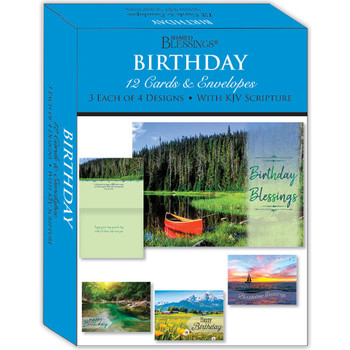 KJV Boxed Cards - Birthday Scenic by Shared Blessings