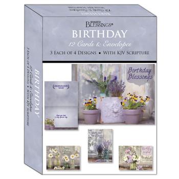 KJV Boxed Cards - Birthday, Floral Celebration by Shared Blessings