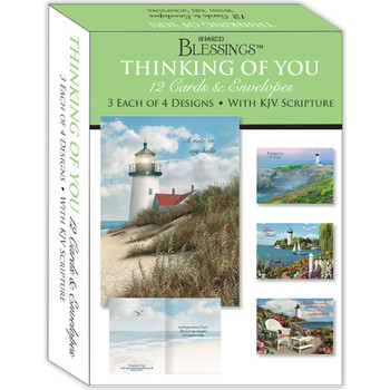 KJV Boxed Cards - Thinking of You I (Lighthouses) by Shared Blessings