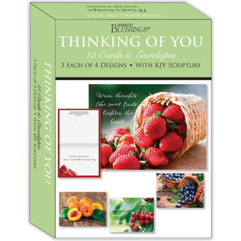KJV Boxed Cards - Thinking of You, Fruitful Blessings by Shared Blessings