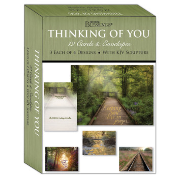 KJV Boxed Cards - Thinking of You, Peaceful Paths by Shared Blessings