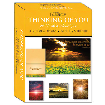 KJV Boxed Cards - Thinking of You, Sunsets by Shared Blessings