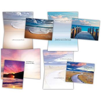 KJV Boxed Cards - Encouragement II (Beach Walk) by Shared Blessings