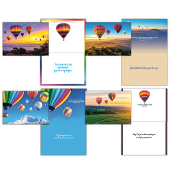 KJV Boxed Cards - Encouragement, Hot Air Balloons by Shared Blessings