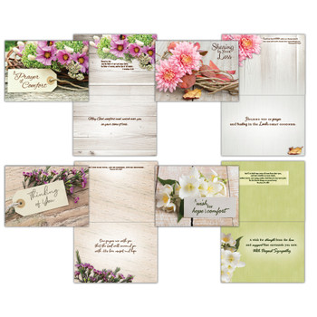 KJV Boxed Cards - Sympathy, Rustic Flowers by Shared Blessings
