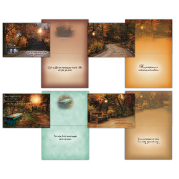 KJV Boxed Cards - Praying for You, Tranquil Paths by Shared Blessings