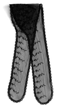 "Prayer Veil - Black Lace - Daisy Chain - 3 1/2"" - Chapel"