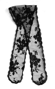 """Prayer Veil - Black Lace - Bridal Bouquet - 3 1/2"""" - Chapel"""