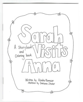 Sarah Visits Anna (coloring book) - Small Book