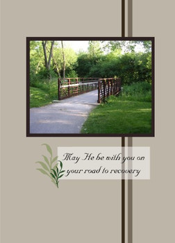 "May He be with you on your Road to Recovery - 5"" x 7"" KJV Greeting Card"